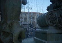Palazzo degli Elefanti dalla fontana dell'Amenano, Piazza Duomo, Catania