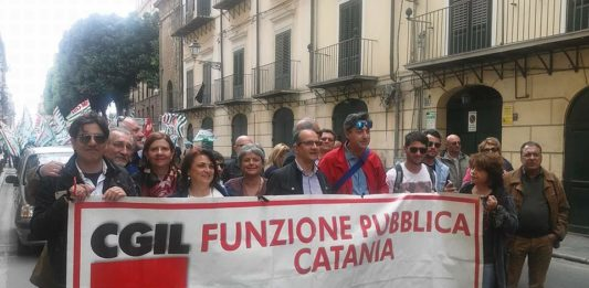 Fp Cgil corteo Catania