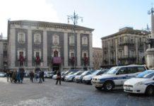 vigili urbani piazza Duomo, Catania