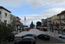 Zafferana Etnea, piazza con neve