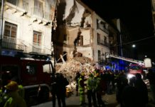 crollo palazzina in via Crispi, Catania