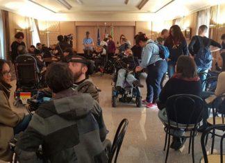 disabili in presidenza della Regione