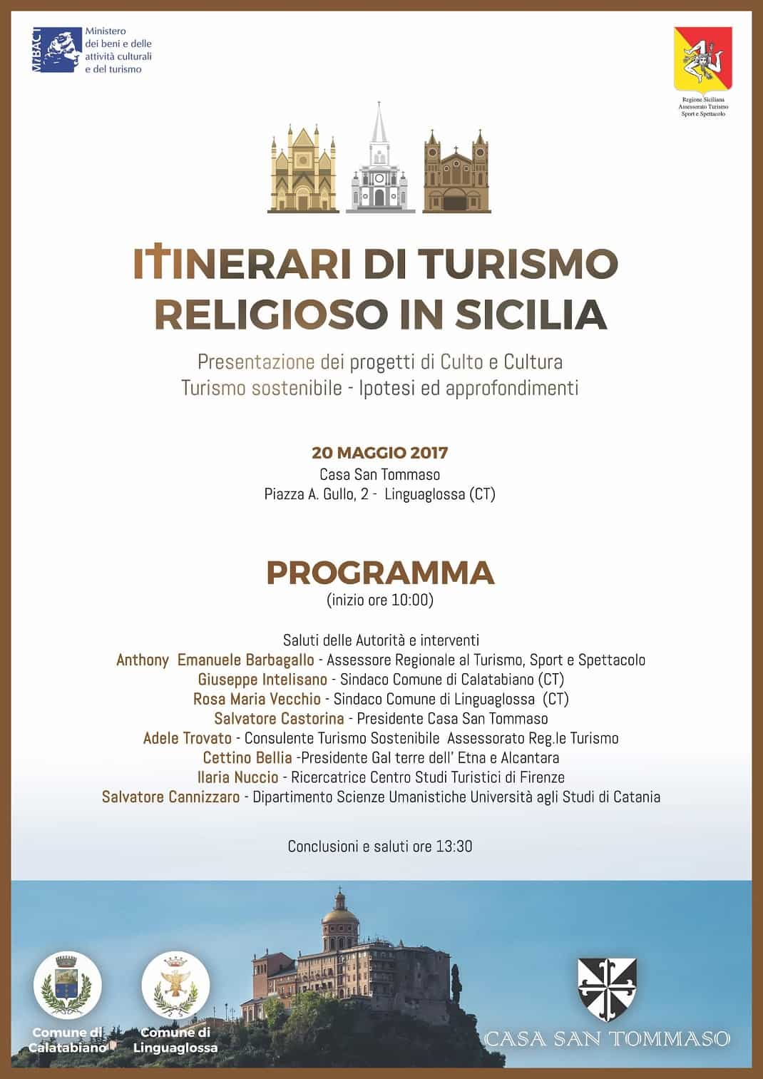 ITINERARI TURISMO RELIGIOSO