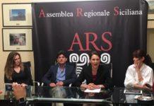 Da sinistra Gianina Ciancio, Giovanni Grasso, Matilde Montaudo e Simona Suriano