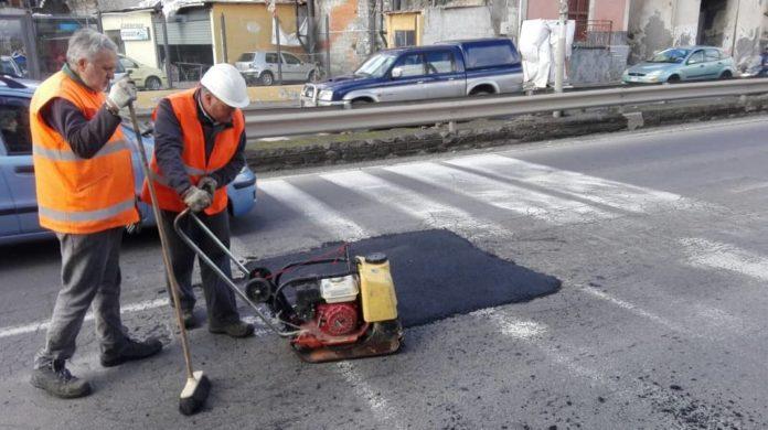 operai lavori stradali 24-1-17