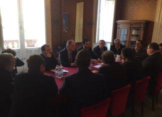 sindaci con Giuseppe Castiglione a Vittoria 04-02-17