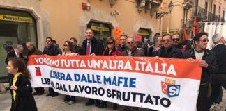 manifestazione contro Mafia Trapani 21-03-17