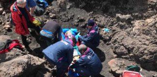 salvataggio polizia Etna 14-04-17