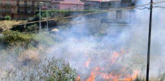 incendi zona viale rapisardi