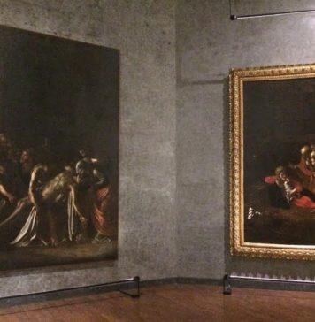 MuMe, i due Caravaggio, sx Resurrezione di Lazzaro, dx Natività, (Ph. Antonio Parrinello)